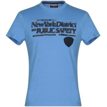 《9/20まで! 限定セール開催中》BLAUER メンズ T シャツ アジュールブルー S コットン 100%