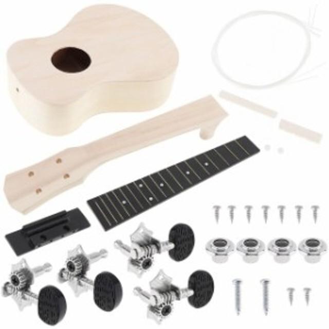 4弦 アコースティック ギター 初心者 高品質 guitar ウッド ハワイアン 楽器 弾きやすい カラー Wood color