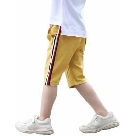 Burning Go キッズ服 ショートパンツ 男の子 5分丈 ハーフパンツ チノパン 半ズボン 短パン 子供服 ジュニア ジャージ スポーツウェア 運動着 ゆったり