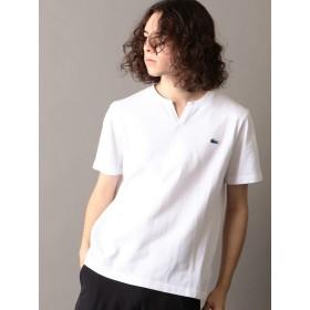 [ラコステ] LACOSTE ポロシャツ Tシャツ 半袖 ノーカラー スキッパー メンズ 122270002 ホワイト S