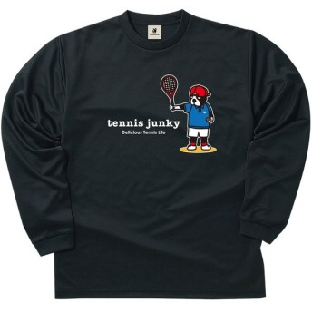 soccer junky サッカージャンキー スマッシュ・テニス・ドッグ ロングDryTEE TJ17505 ブラック