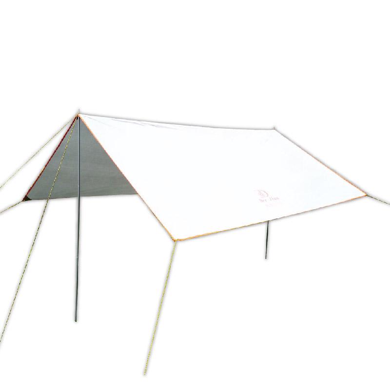 【露營用品】方型防水天幕帳(附2支營柱)