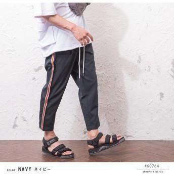 パンツ・ズボン全般 - MinoriTY アンクルパンツ メンズ サイドライン パンツ アンクル ラインパンツ クロップド 韓国 ファッション メンズファッション モード系ストリート系 サロン系 マイノリティ minority