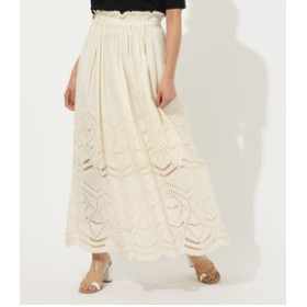 【AZUL by moussy:スカート】COTTON LACE FLARE MAXI SK