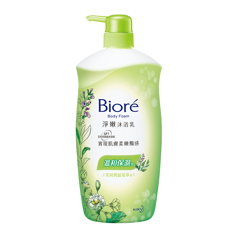 Biore淨嫩沐浴乳溫和保濕型1000ml(茉莉與鼠尾草)