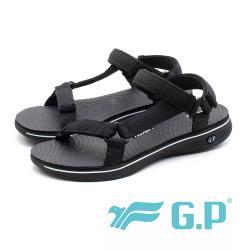 G.P (女)Travel極輕量織帶旅行涼鞋-黑(另有桃/白)