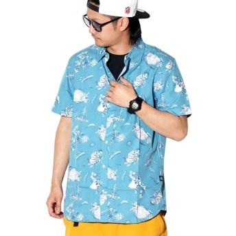 (ザ・ノースフェイス) THE NORTH FACE 半袖Tシャツ USAモデル S/S BAYTRAIL SHIRT NF0A3T1F ブルー 2XL [並行輸入品]
