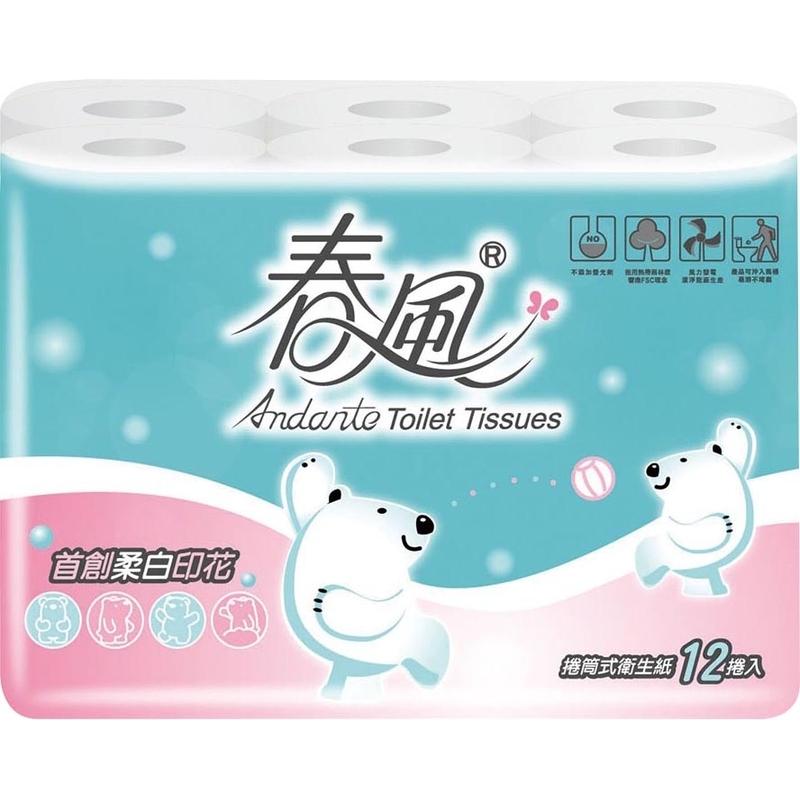 【捲筒式】春風捲筒衛生紙-12 Roll捲