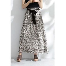 PROPORTION BODY DRESSING / プロポーションボディドレッシング  ◆《EDIT COLOGNE》モノトーンシフォンスカート