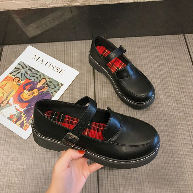 FOFU-包鞋樂福鞋時尚百搭個性皮帶扣厚底包鞋樂福鞋【02S11361】