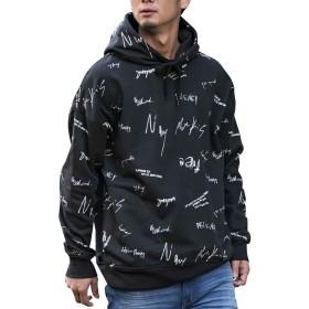 (アドミックス アトリエサブメン) ADMIX ATELIER SAB MEN メンズ グラフィック プリント 裏毛 オーバーサイズ パーカー 02-64-9802 50(L) ブラック