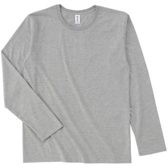 #SFL-110 スリムフィットロングスリーブTシャツ 4.3oz ヘザーグレー M