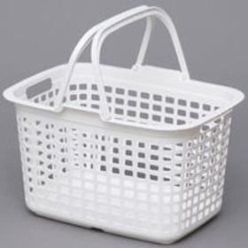 アイリスオーヤマ ランドリーバスケット ピュアホワイト LB-M(直送品)