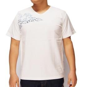 花旅楽団[ハナタビガクダン] 鳥獣戯画 刺繍 和柄Tシャツ/半袖/ST-663--ホワイト--M
