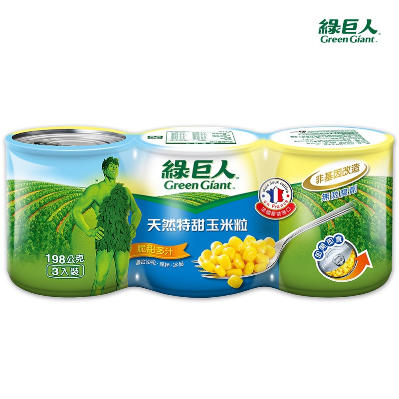 綠巨人天然特甜玉米粒-198g