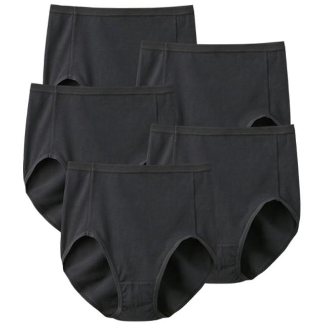 【WEB限定】綿混ストレッチシンプル深ばきショーツ5枚組 スタンダードショーツ,Panties