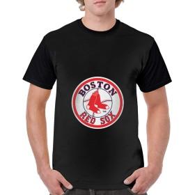 Boston Red Sox 24 男 半袖 Tシャツ カジュアル ファッション Shirt 半袖 3Dプリント おしゃれ シャツ 薄手 夏 ゆったり 通勤 通学
