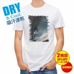 Tシャツ ブルーアイ メジナ(グレ) 釣り 魚 ルアー 送料無料 メンズ ロゴ 文字 春 夏 秋 インナー 大きいサイズ 洗濯