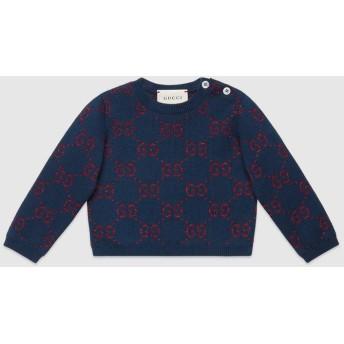 〔ベビー〕オンライン限定 GGコットン ラメ ファブリック セーター