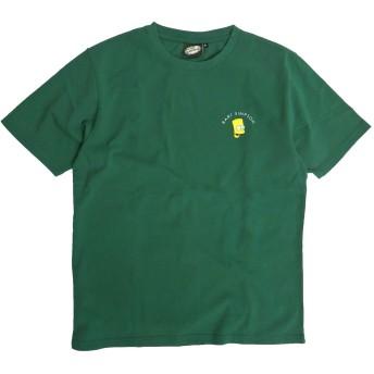 ザ・シンプソンズ Tシャツ The Simpsons 半袖Tシャツ シンプソンズ バックプリント (グリーン, Mサイズ)