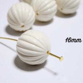 アクリルビーズ【アイボリー16mm】