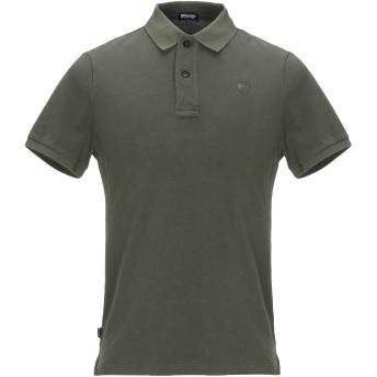 《期間限定セール開催中!》BLAUER メンズ ポロシャツ ミリタリーグリーン S コットン 100%