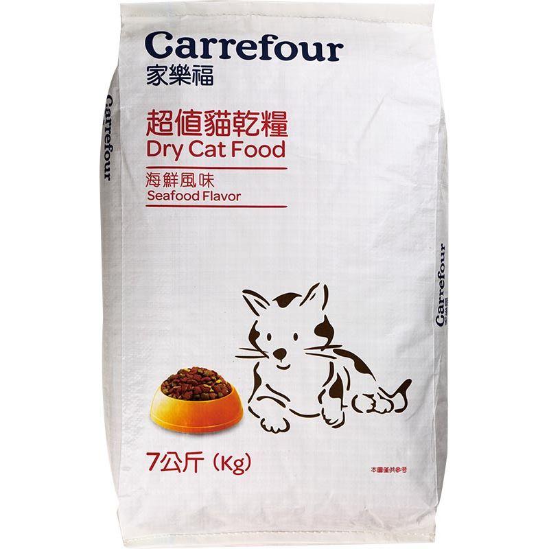 家樂福超值貓乾糧(海鮮)7kg