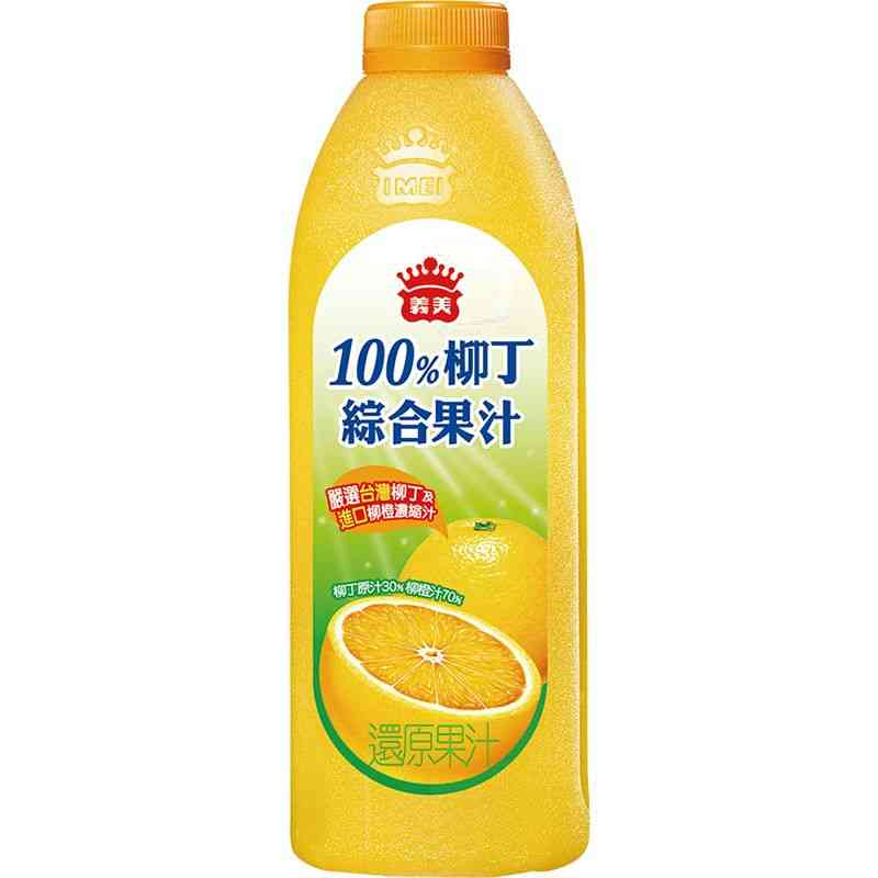 義美100柳丁綜合果汁1000ml到貨效期約6-8天