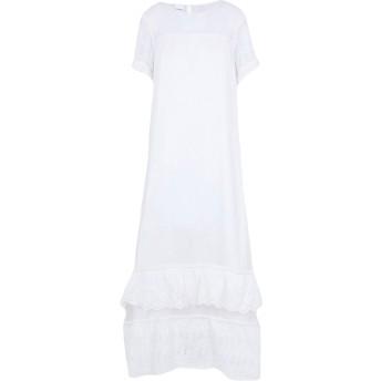 《セール開催中》PINKO レディース ロングワンピース&ドレス ホワイト 40 コットン 54% / ポリエステル 46%