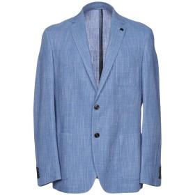 《期間限定セール開催中!》MICHAEL KORS MENS メンズ テーラードジャケット ブルーグレー 38 ウール 59% / コットン 33% / 麻 8%
