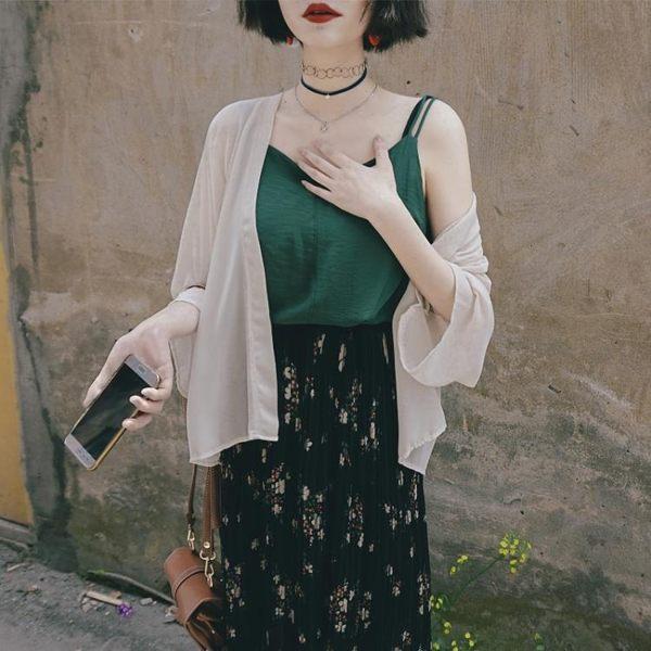 和服外套 復古日式和服開衫雪紡防曬衣外套仙氣夏空調衫女