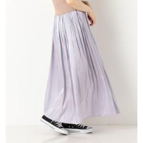 【アルシーヴ/archives】 ギャザープリーツシャイニースカート