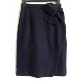 ジャスグリッティー JUSGLITTY スカート サイズ1 S レディース 美品 ダークネイビー リボン/ラメ【中古】20190711