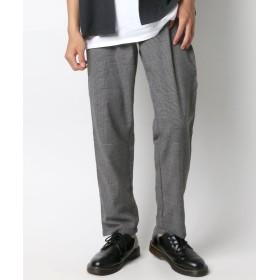ラザル 新作 チェック柄ワイドパンツ メンズ 柄1 XL 【LAZAR】