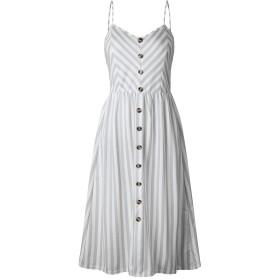 MyMei キャミソール ワンピース ドレス スカート 体型カバー ロング丈 レディース カジュアル 春夏ウェア (S, 2C)