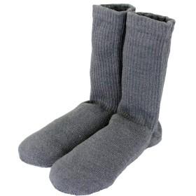 (ソックスデポ)SocksDEPO てぶくろ屋さんがつくった「シルク100%先丸ソックス ショート」 日本製 レディース 22cm~25cm チャコールグレー