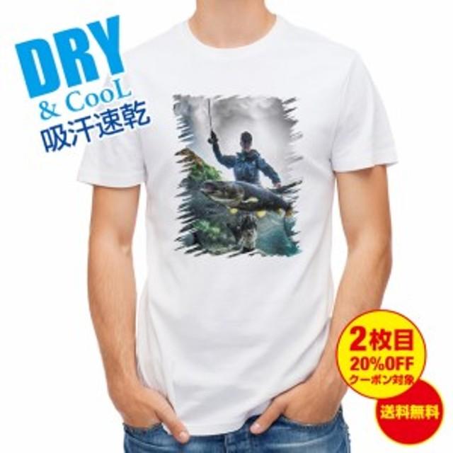 Tシャツ ランディング2 釣り 魚 ルアー 送料無料 メンズ ロゴ 文字 春 夏 秋 インナー 大きいサイズ 洗濯