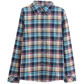 AngelSpace Womens Cotton Long Sleeve Plus Size Flannel Plaid Pattern Tops AS11 2XL