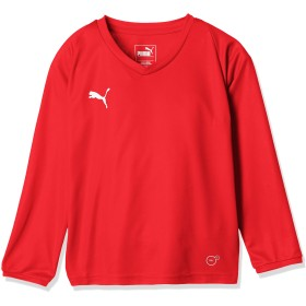 [プーマ] サッカーウェア LIGA 長袖 ゲームシャツ コア 703667 [ボーイズ] プーマ レッド/プーマ ホワイト (01) 日本 160 (日本サイズ160 相当)