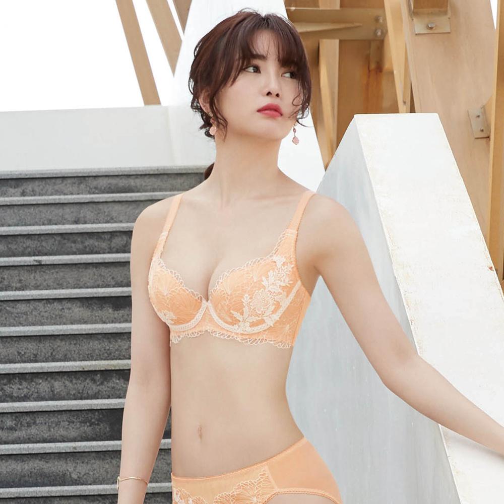 【曼黛瑪璉】Hibra大波內衣 B-G罩杯(寧靜橘)