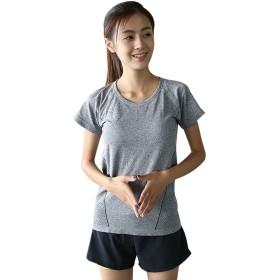 【Selling-sports】レディース Tシャツ 通気 吸汗速乾 弾力性 ランニング ヨガ ジムなどのアウトドアウエア