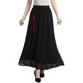 (上海物語)Shanghai Story レディース チャイナ服 綿麻 パンツ ワイドパンツ 中華風 女性用 ブラック