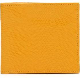【58%OFF】PORTEFEUILLE JIM-LUCERTOLINA 型押し 二つ折り財布 イエロー