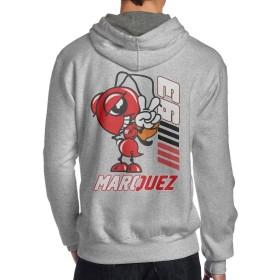 マルクマルケス ロゴ Marc Marquez スウェット パーカー プルオーバー メンズ スウェットシャツ フード付き ジム スポーツ トレーニング カジュアル 棉 バックプリント 長袖トップス おしゃれ 男性着