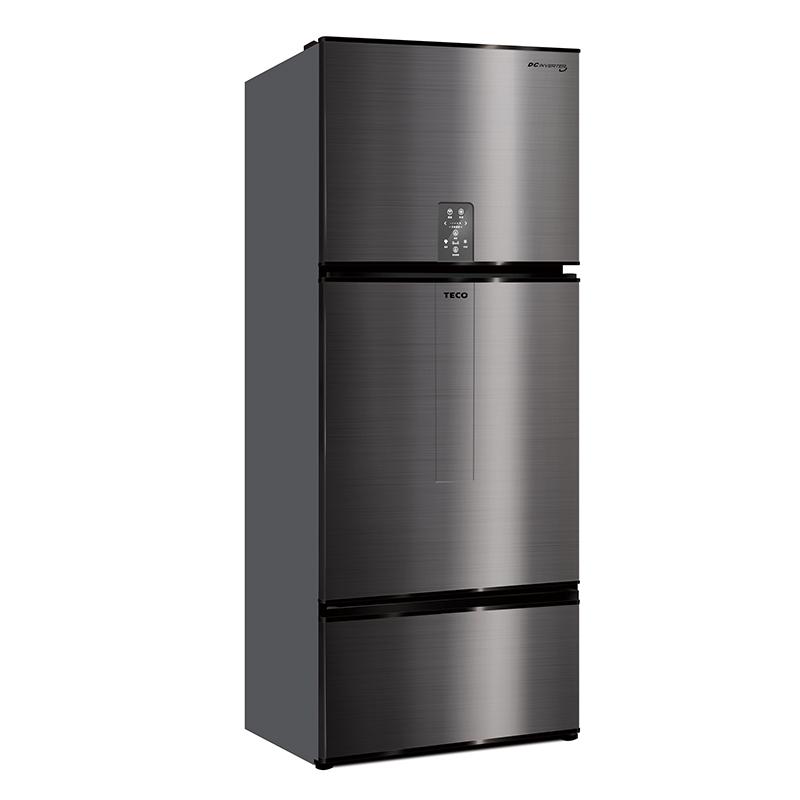 【一級節能】東元R6181VXHS節能變頻三門冰箱610公升