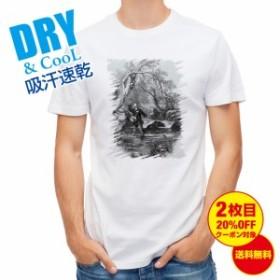 Tシャツ 19世紀のフライフィッシャー 釣り 魚 ルアー 送料無料 メンズ 文字 春 夏 秋 インナー 大きいサイズ 洗濯