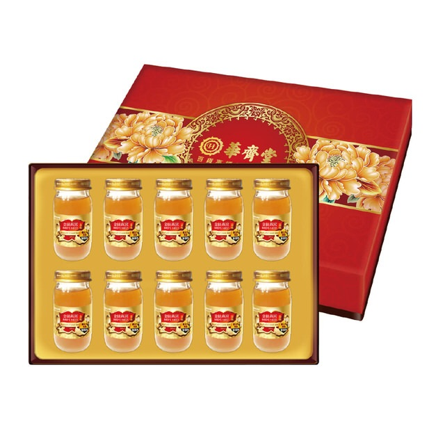 華齊堂 蜂王乳金絲燕窩晶露禮盒 3盒