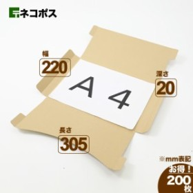 A4 厚さ2.5cm 定番ダンボール箱 ネコポス対応 (5412) | ダンボール 段ボール ダンボール箱 段ボール箱梱包用 梱包資材 梱包材