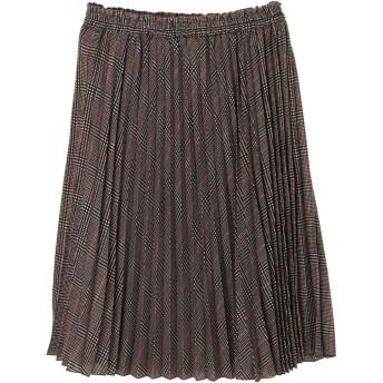【6,000円(税込)以上のお買物で全国送料無料。】・すきな丈プリーツスカート(ミディ)