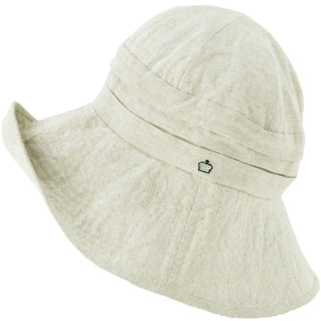 クイーンヘッド 小顔効果 エレガントUVハット 帽子 UVカット レディース 大きいサイズ つば広 ハット 紫外線カット 女優帽 (BIGサイズ63cm ナチュラル)